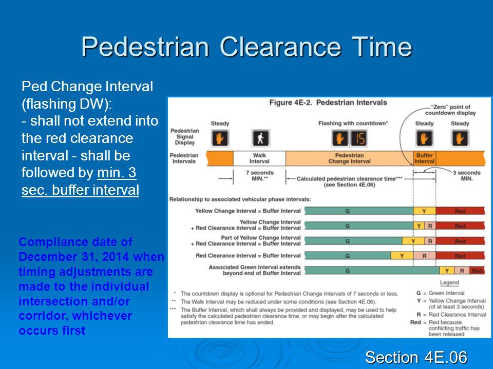 Pedestrian Clearance Time