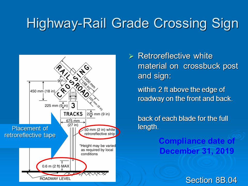 Highway-Rail Grade Crossing Sign