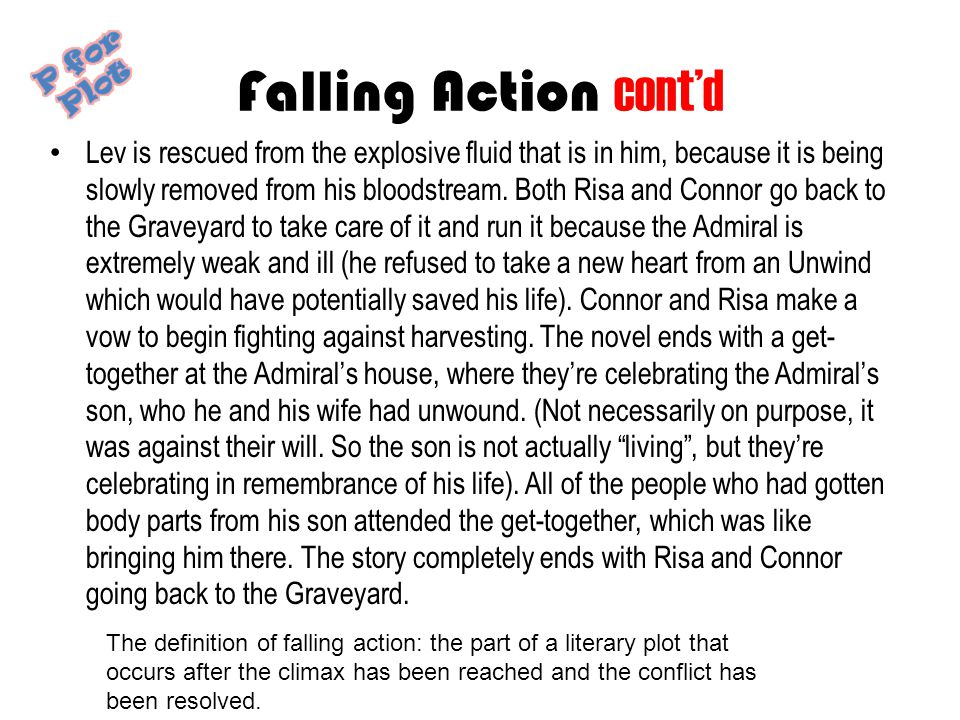 Falling Action cont'd P for Plot.