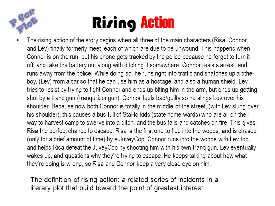 Rising Action P for Plot