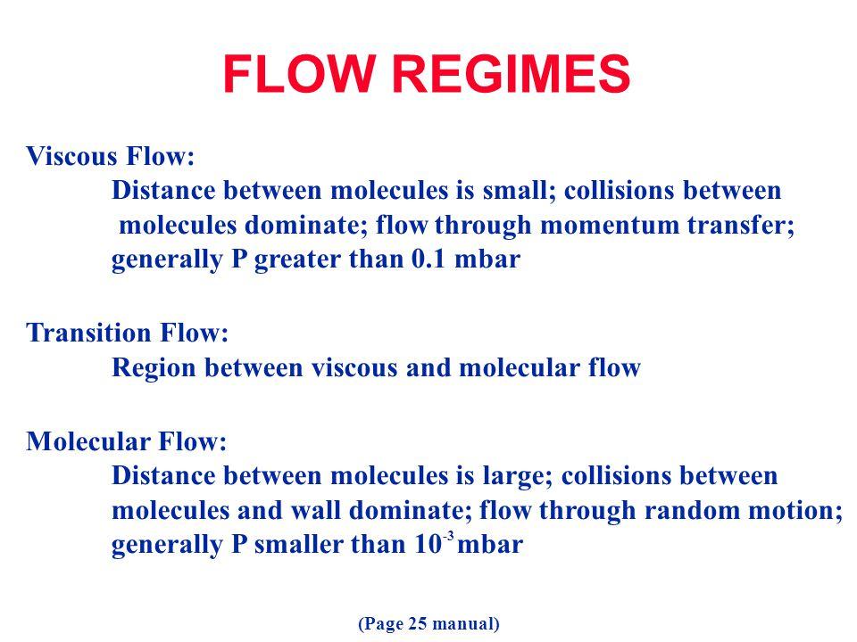 FLOW REGIMES Viscous Flow: