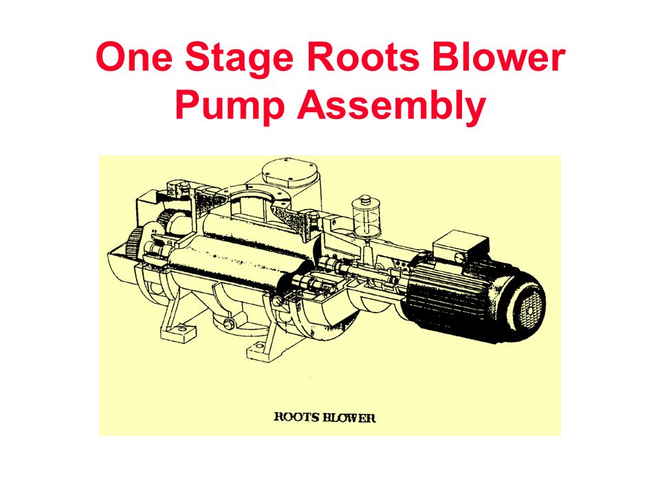 One Stage Roots Blower Pump Assembly