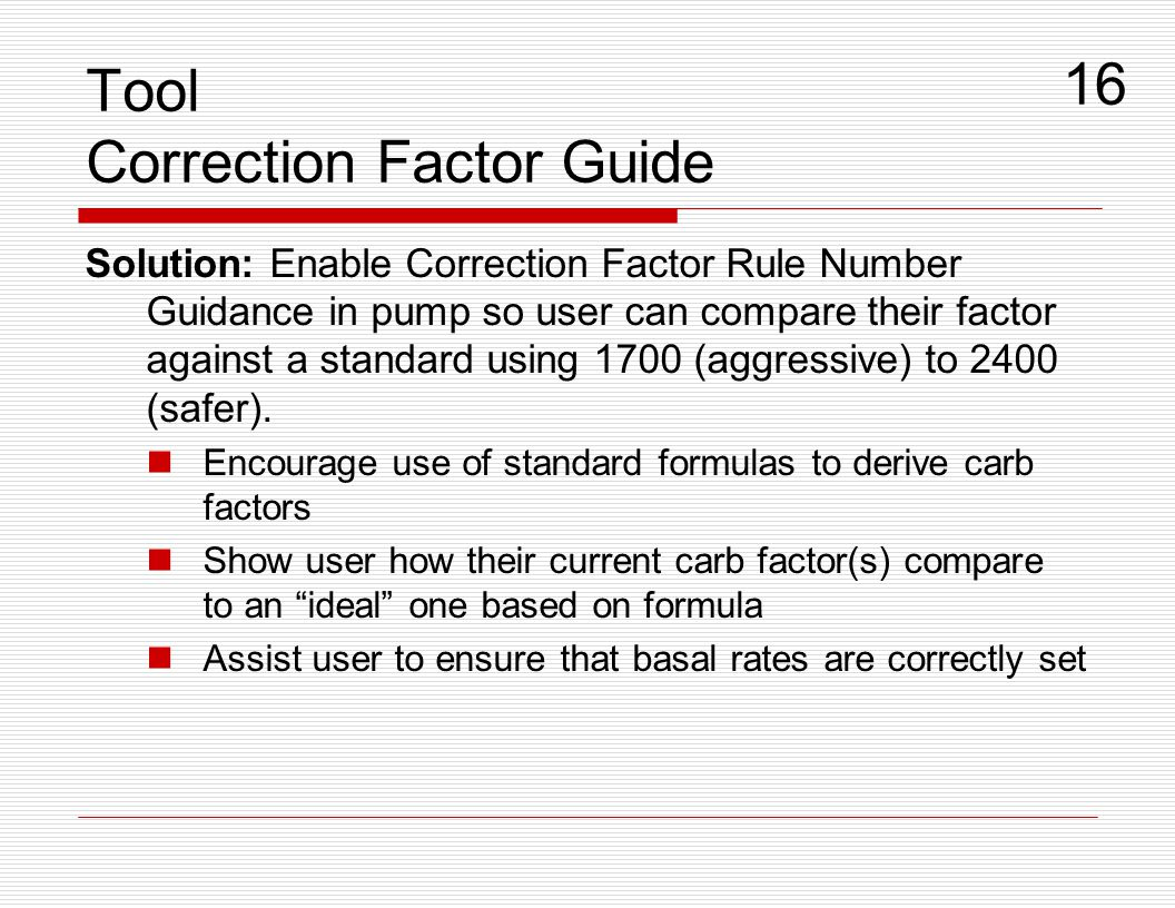 Tool Correction Factor Guide