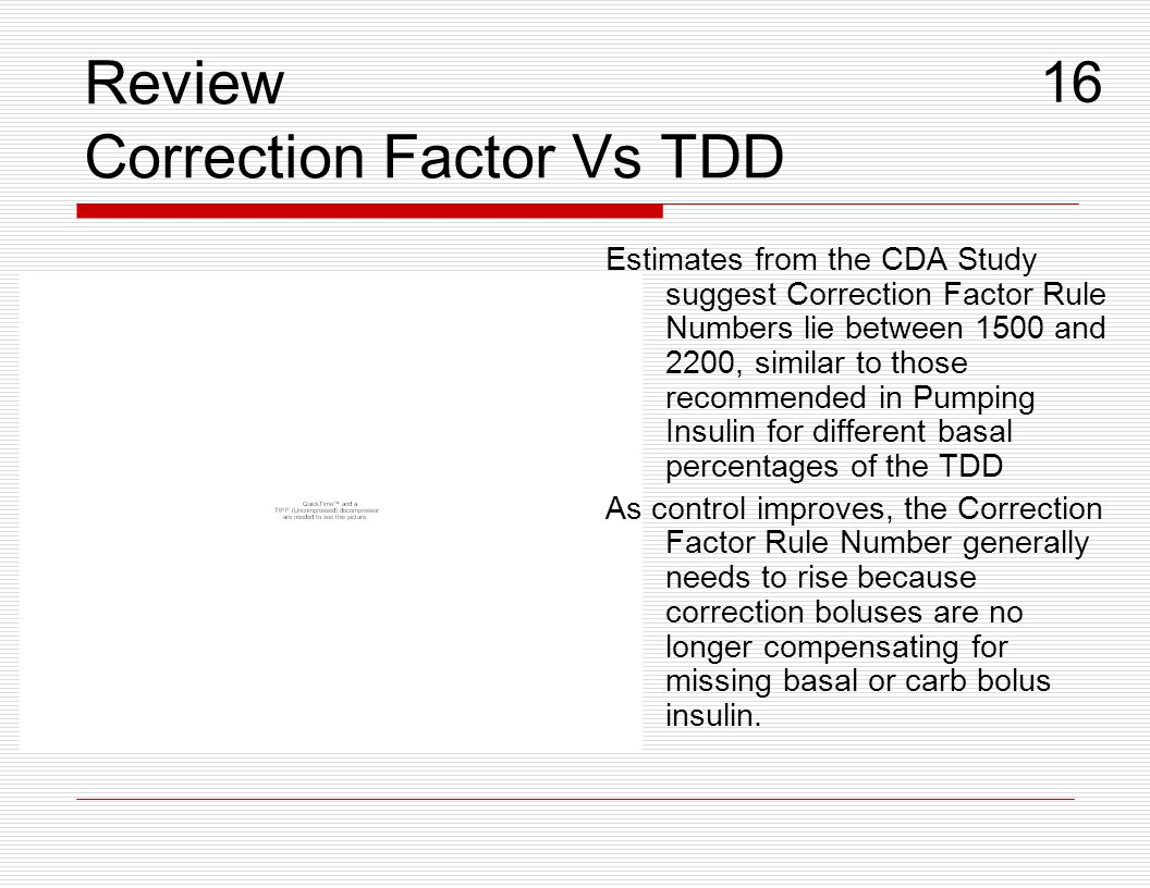 Review Correction Factor Vs TDD