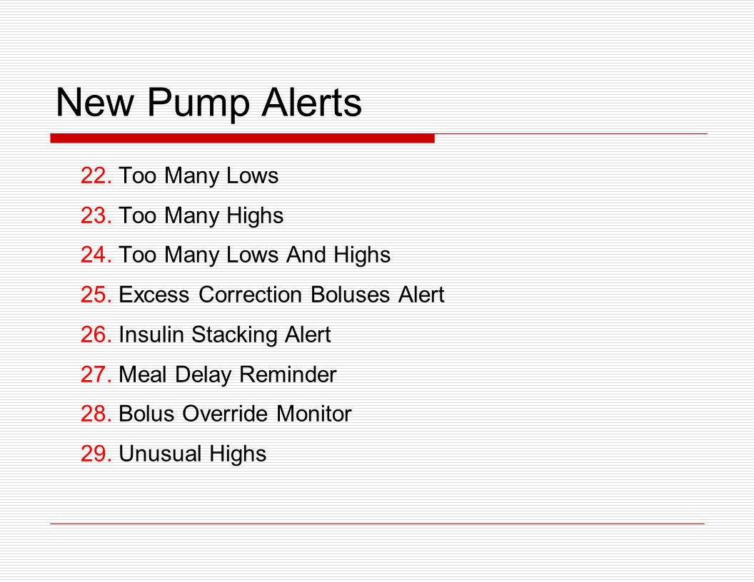 New Pump Alerts 22. Too Many Lows 23. Too Many Highs