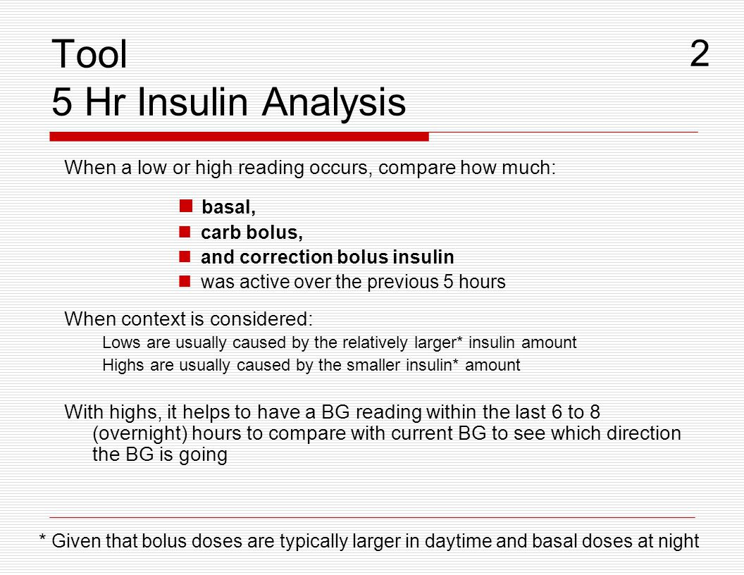 Tool 5 Hr Insulin Analysis