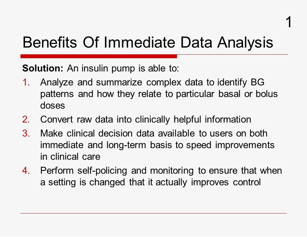 Benefits Of Immediate Data Analysis
