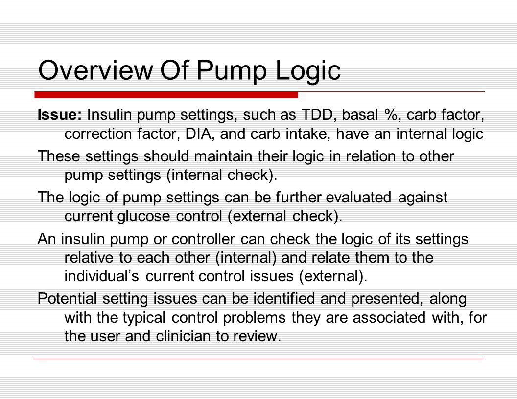 Overview Of Pump Logic