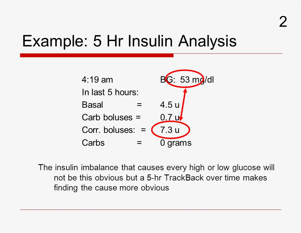 Example: 5 Hr Insulin Analysis