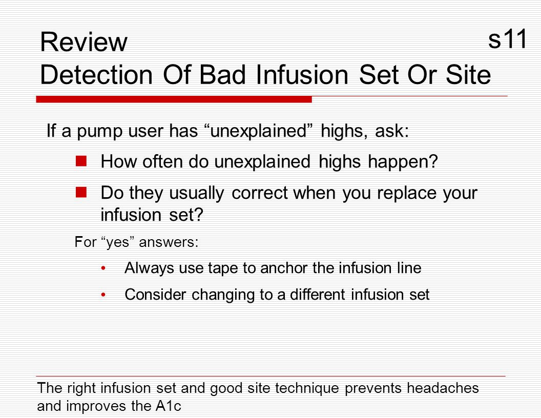Review Detection Of Bad Infusion Set Or Site