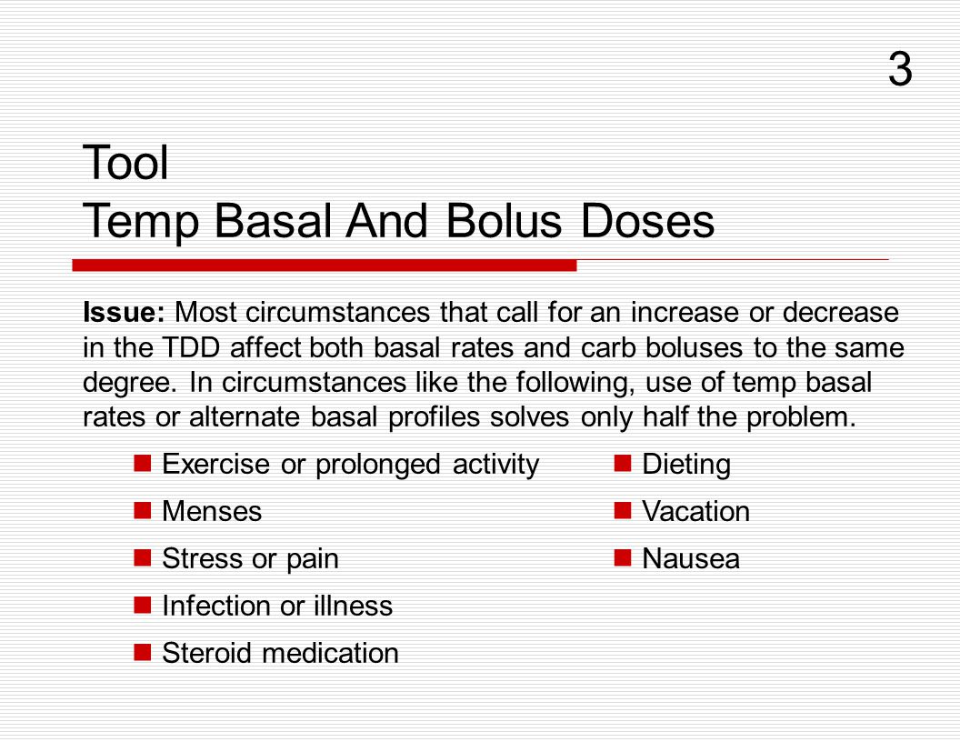 Temp Basal And Bolus Doses