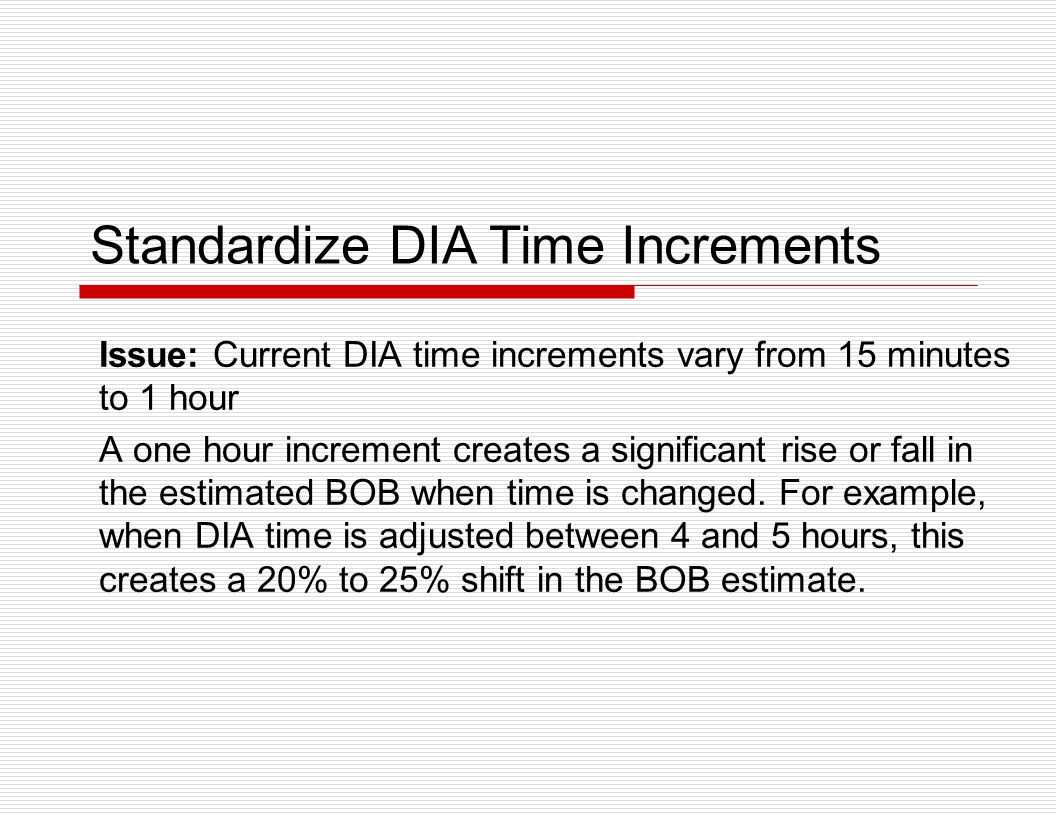 Standardize DIA Time Increments