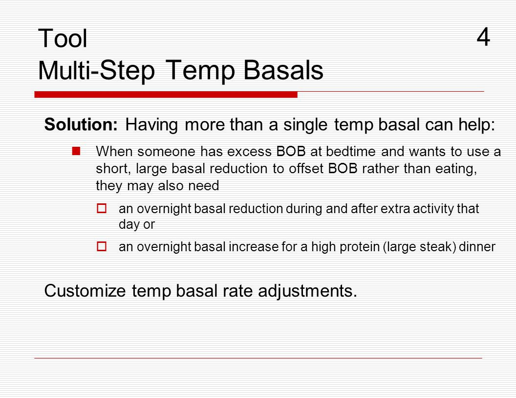 Tool Multi-Step Temp Basals