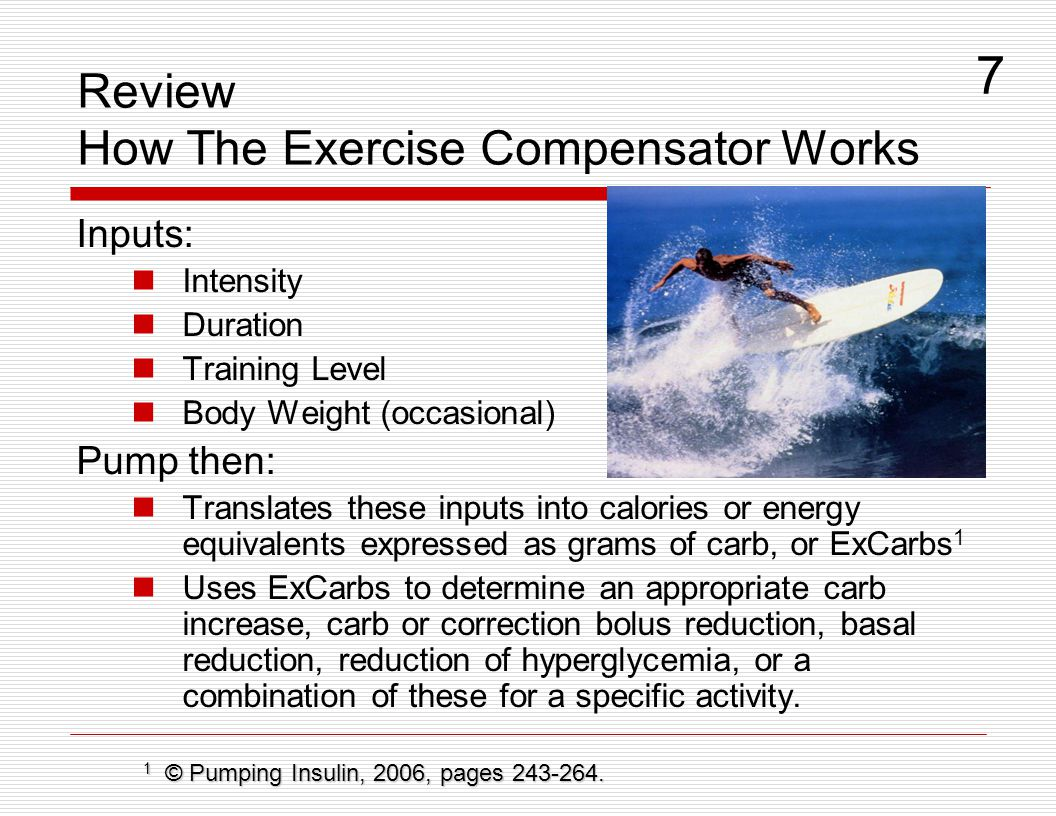 Review How The Exercise Compensator Works