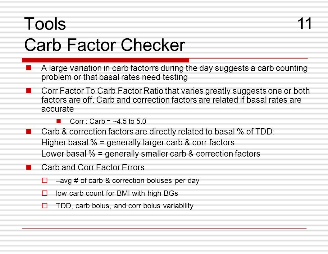 Tools Carb Factor Checker