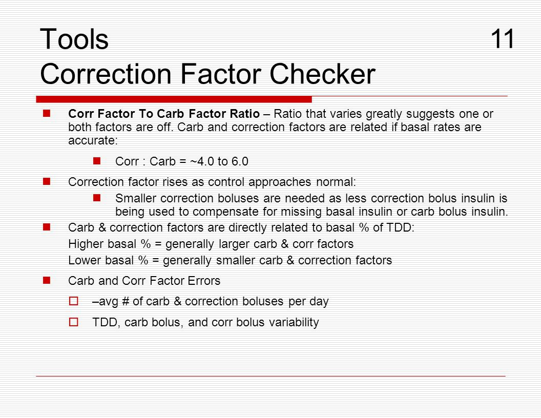 Tools Correction Factor Checker