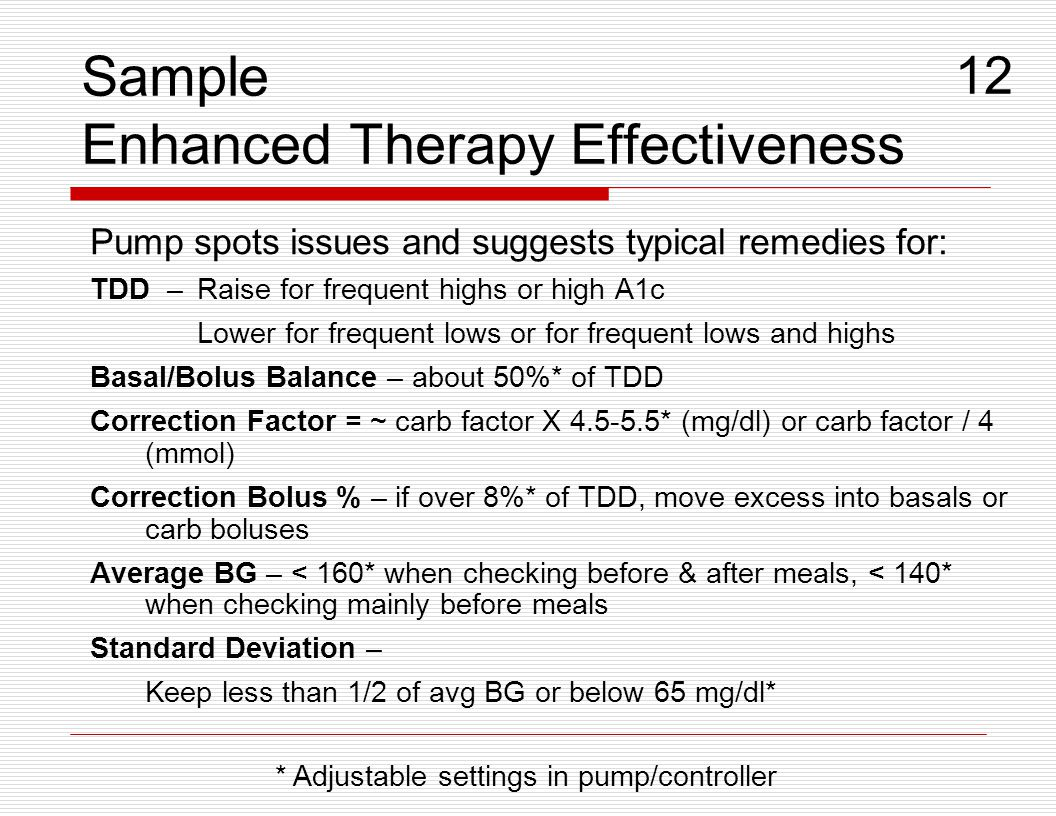 Sample Enhanced Therapy Effectiveness