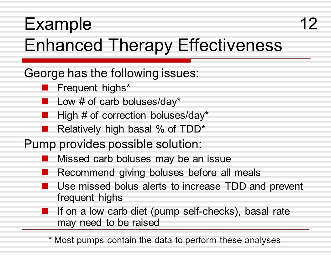 Example Enhanced Therapy Effectiveness