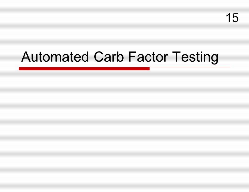 Automated Carb Factor Testing