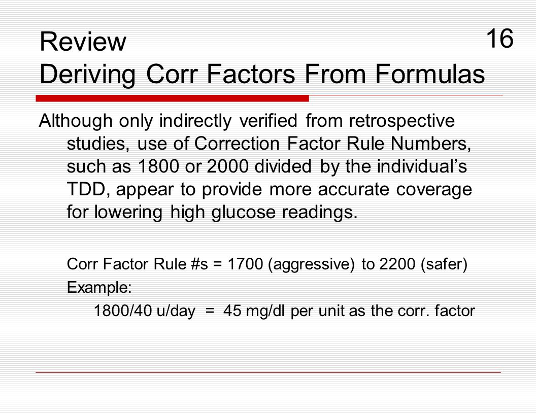 Review Deriving Corr Factors From Formulas