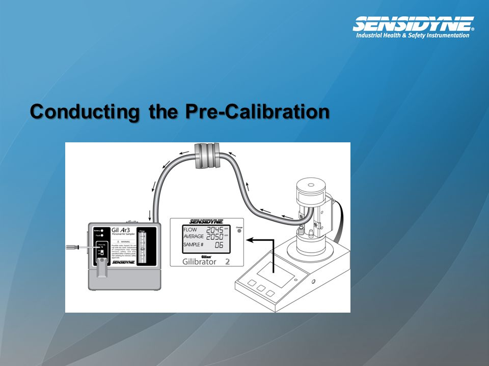 Conducting the Pre-Calibration
