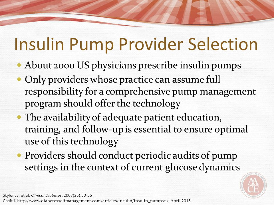 Insulin Pump Provider Selection