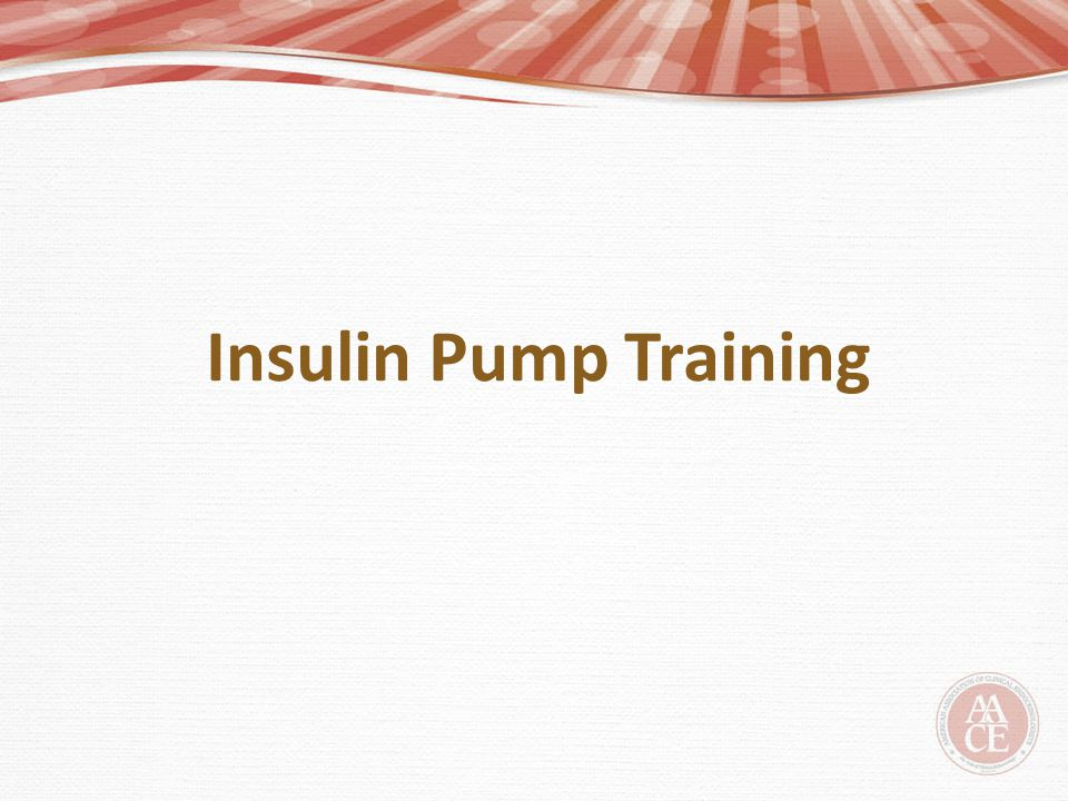 Insulin Pump Training