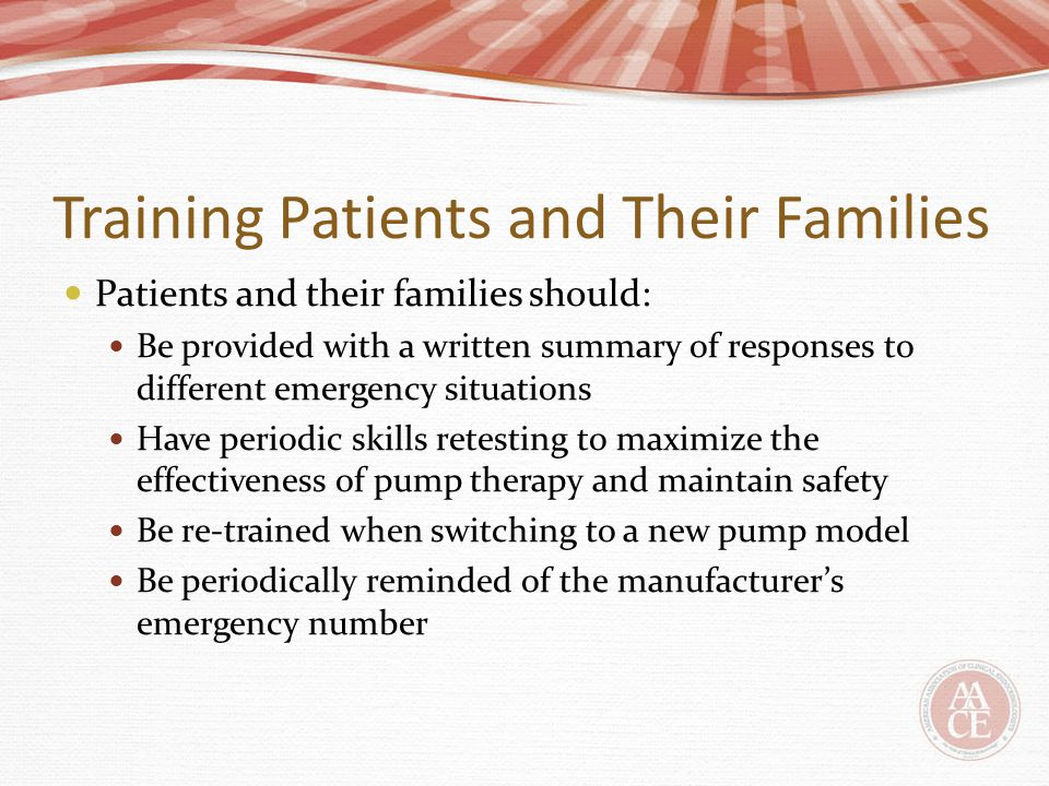 Training Patients and Their Families