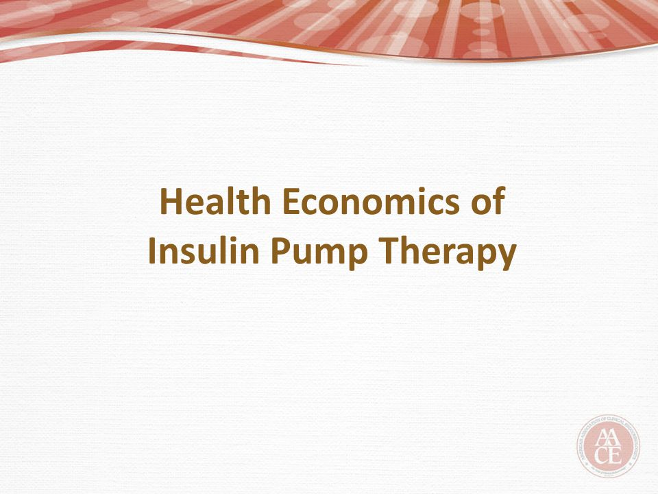 Health Economics of Insulin Pump Therapy