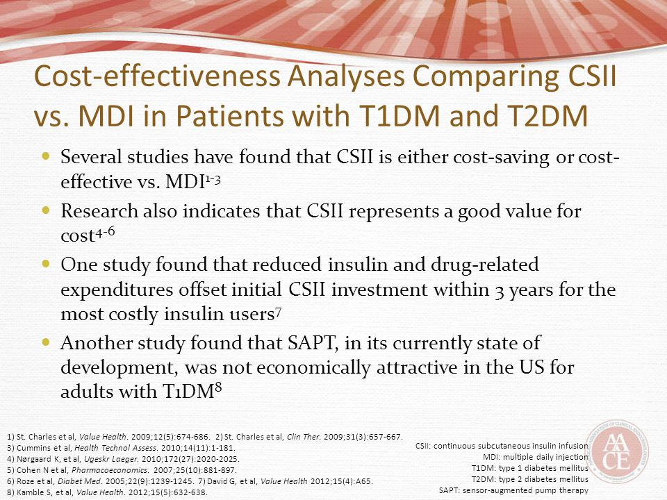 Cost-effectiveness Analyses Comparing CSII vs