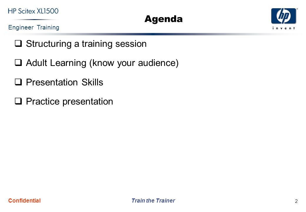 Structuring a training session Adult Learning (know your audience)