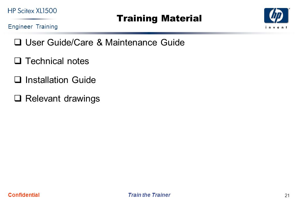 User Guide/Care & Maintenance Guide Technical notes Installation Guide