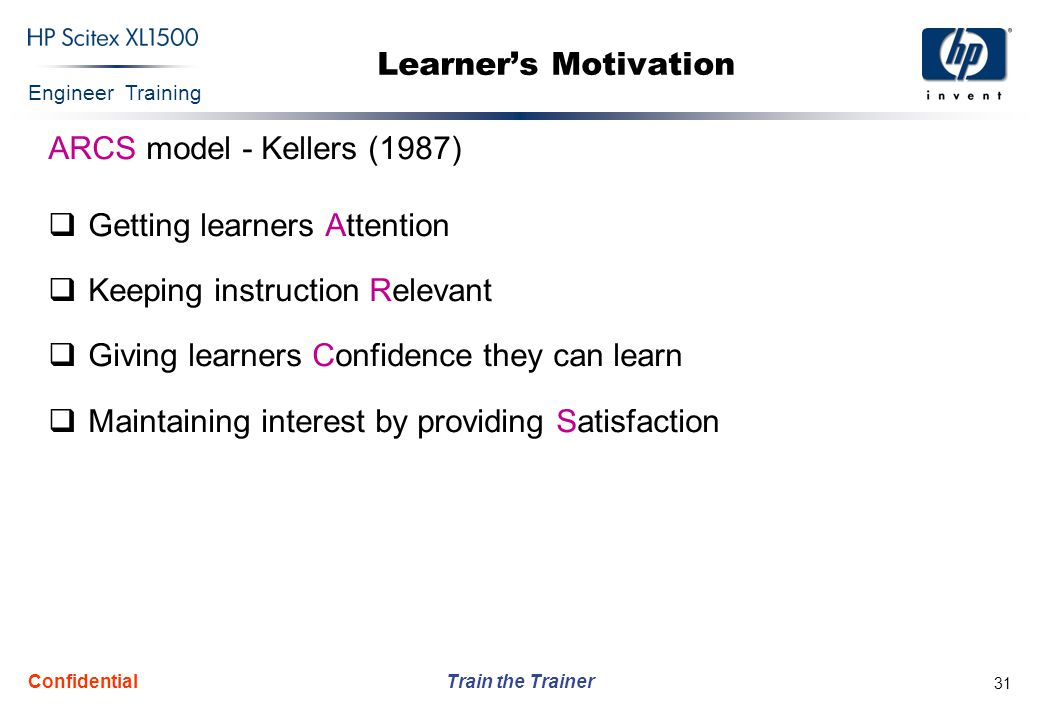 Getting learners Attention Keeping instruction Relevant