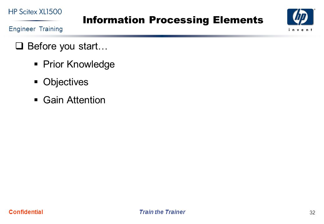 Information Processing Elements