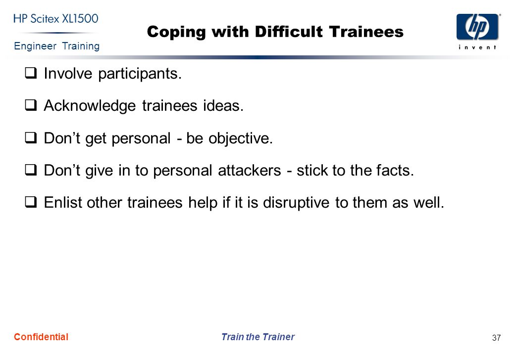 Coping with Difficult Trainees
