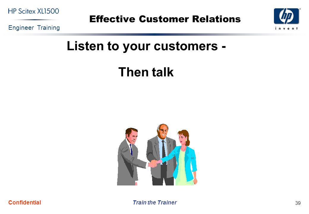 Effective Customer Relations