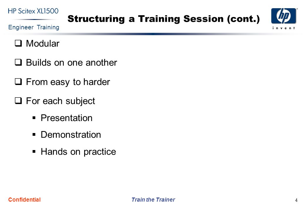 Structuring a Training Session (cont.)
