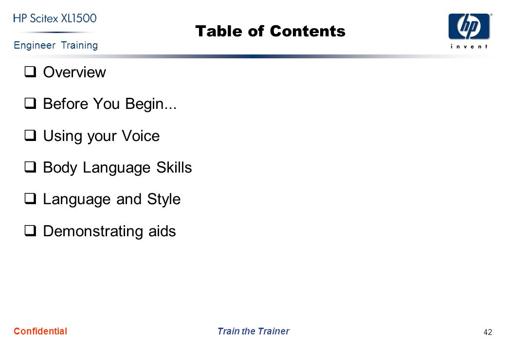 Table of Contents Overview Before You Begin... Using your Voice