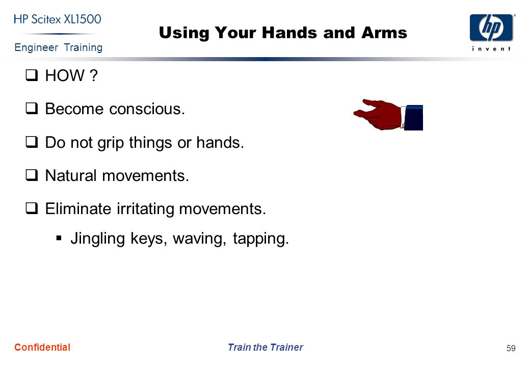 Using Your Hands and Arms