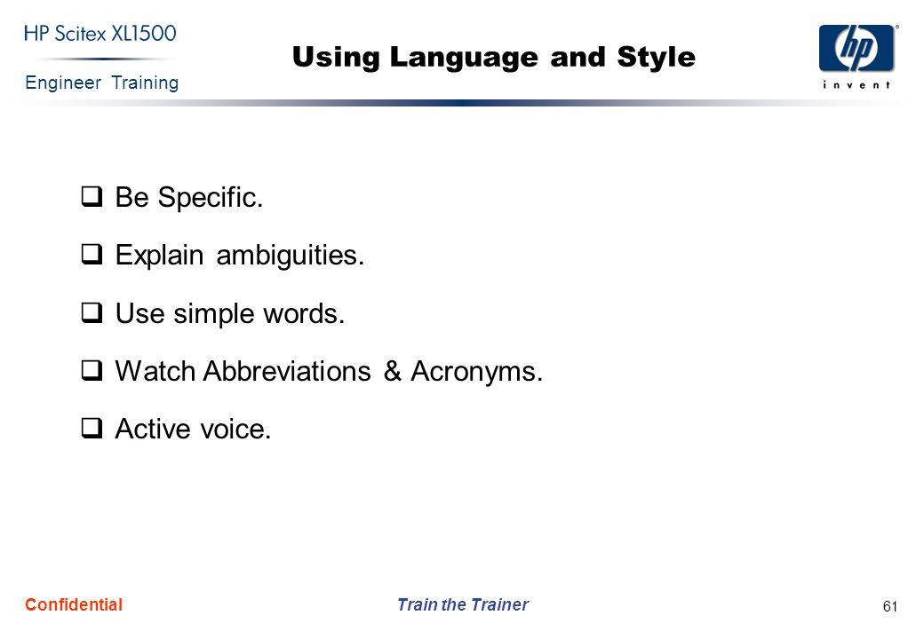 Using Language and Style