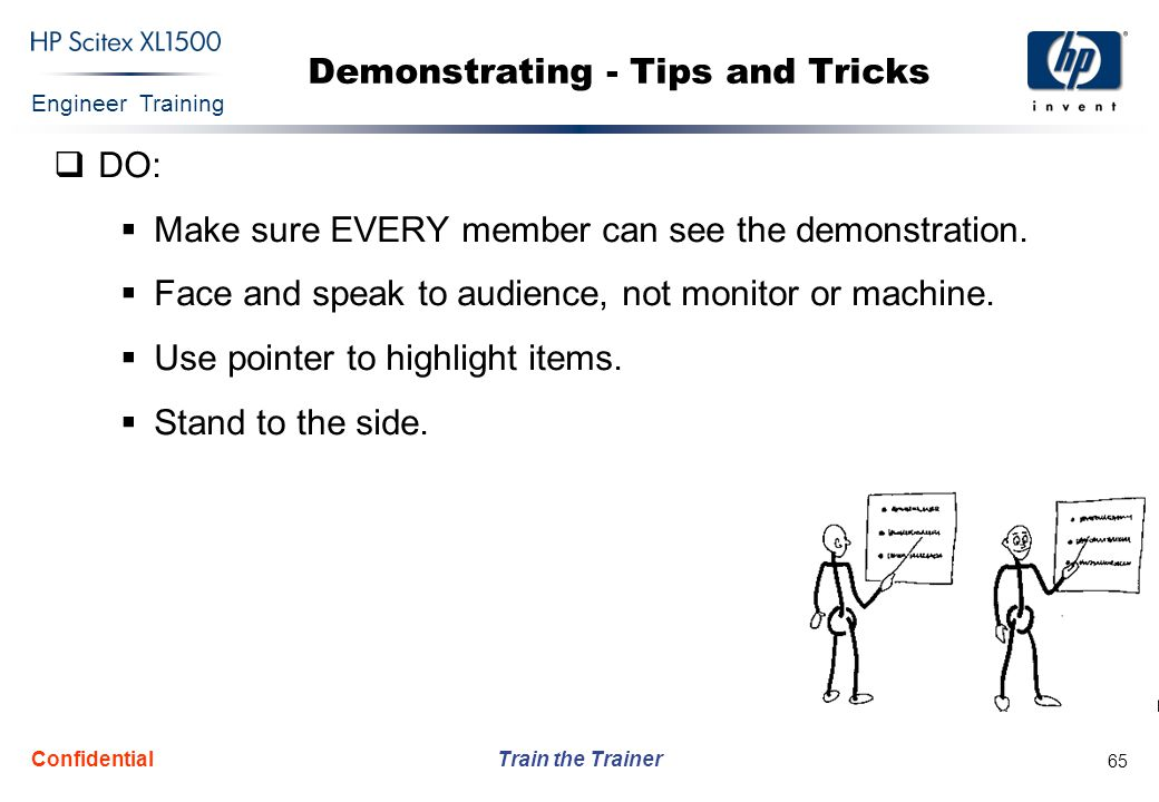 Demonstrating - Tips and Tricks