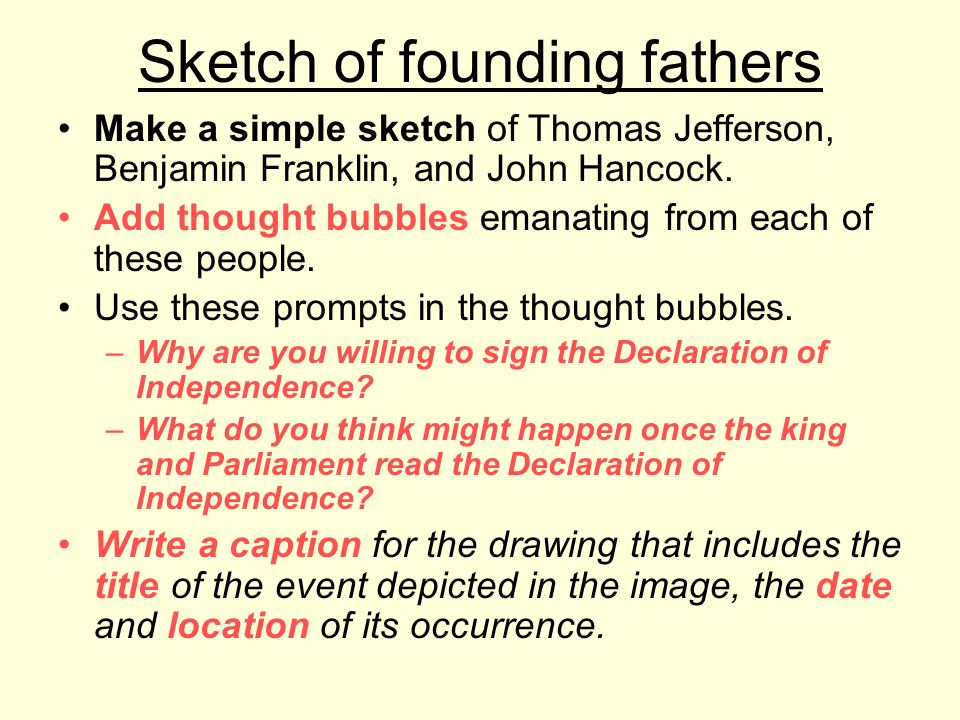 Sketch of founding fathers