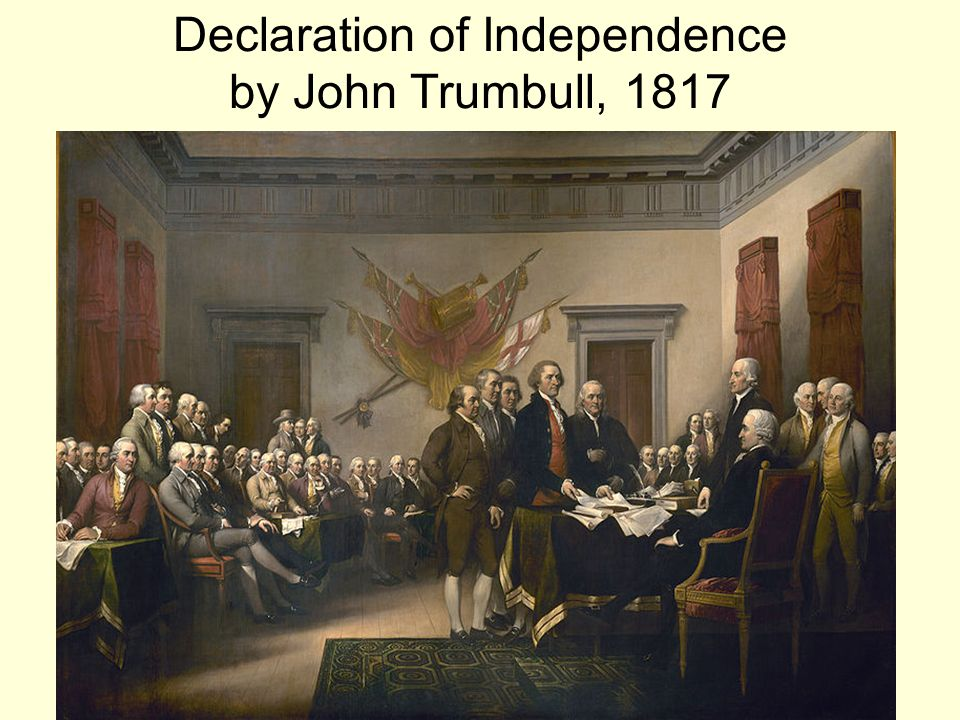 Declaration of Independence by John Trumbull, 1817
