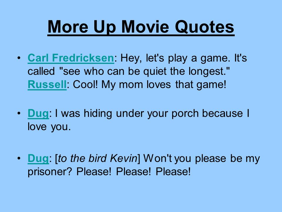 More Up Movie Quotes