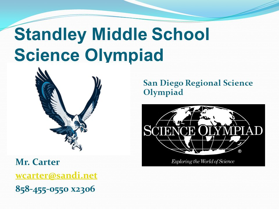 Standley Middle School Science Olympiad