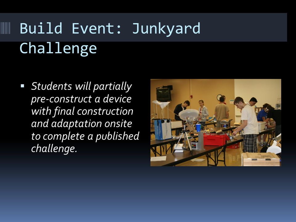 Build Event: Junkyard Challenge