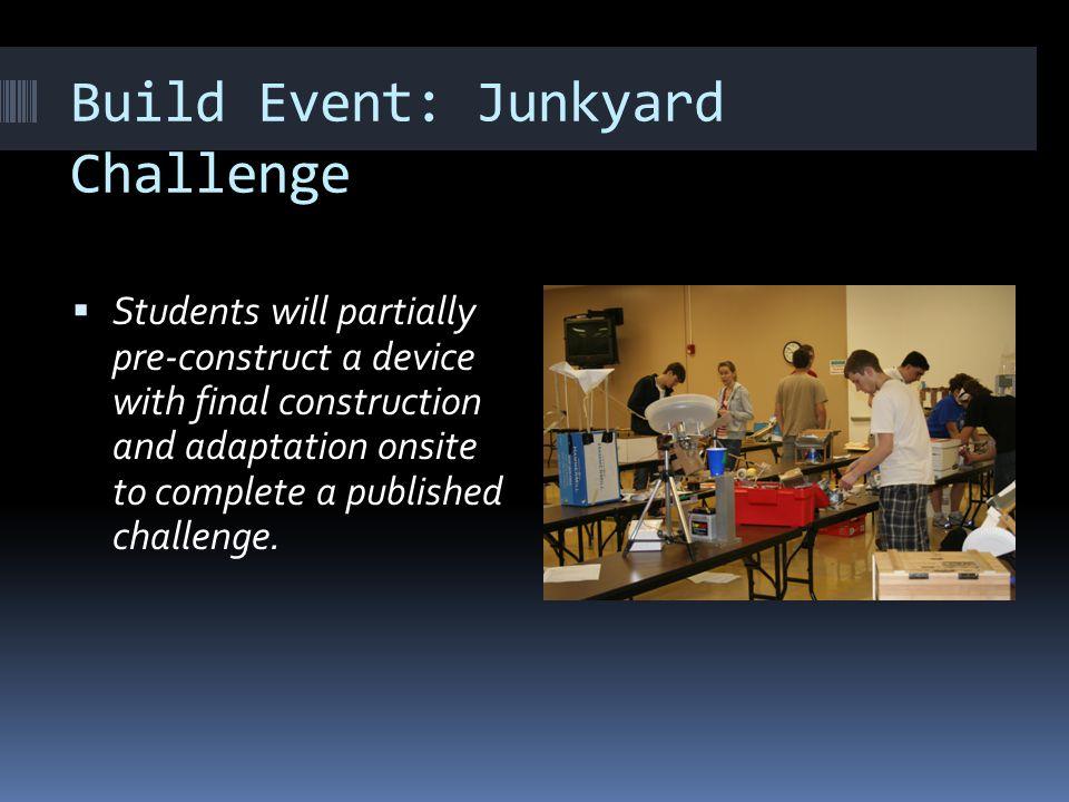 Build Event: Junkyard Challenge