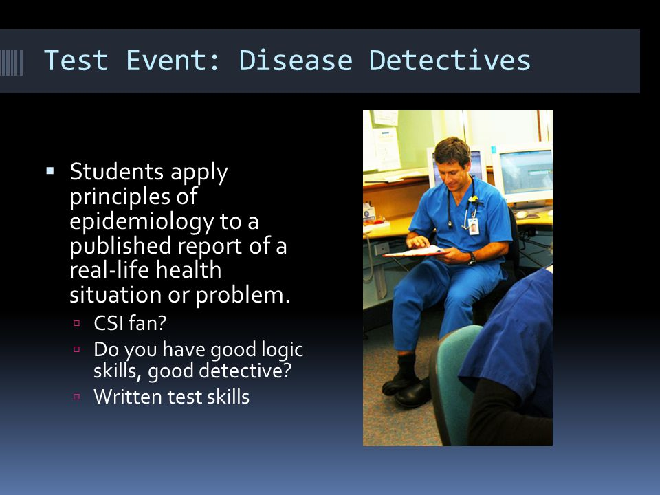 Test Event: Disease Detectives