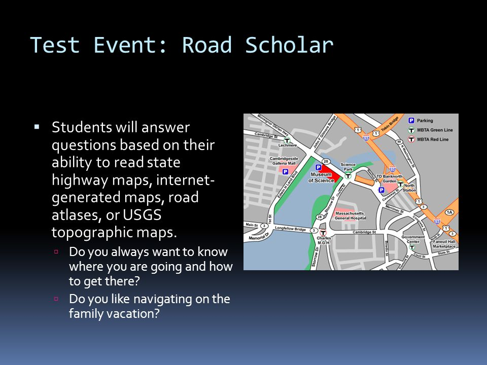 Test Event: Road Scholar