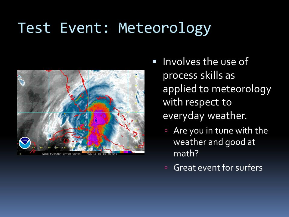 Test Event: Meteorology